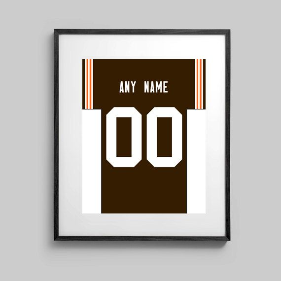 Cleveland Browns print  Jersey Design   by CSportImages on Etsy