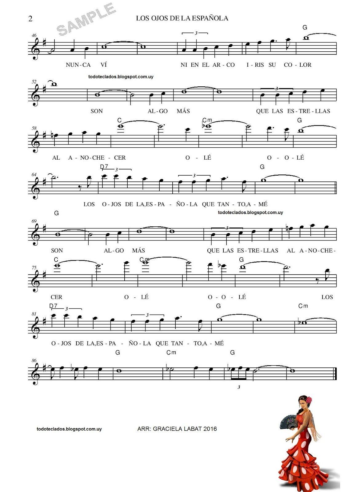 Los Ojos De La Española Bert Kaempfert Partituras Letras Y Acordes Piano Partituras