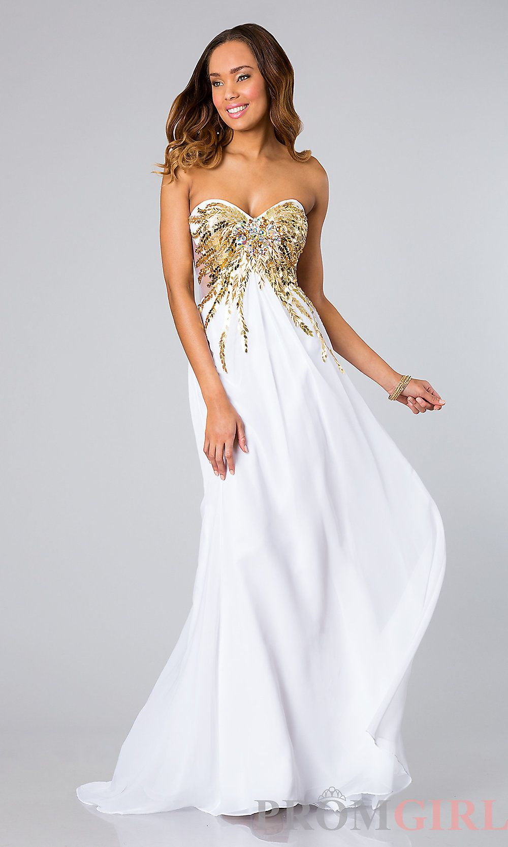 white and gold prom dresses - Google Search | PROM | Pinterest ...