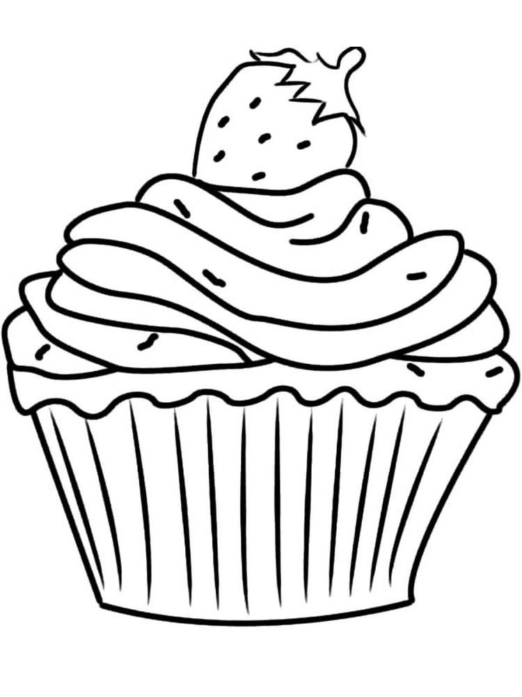 Chibi Cupcake Coloring Pages Cupcake Is A Cake In A Cup A Small Cake For One Person Usuall Cupcake Coloring Pages Birthday Coloring Pages Leaf Coloring Page