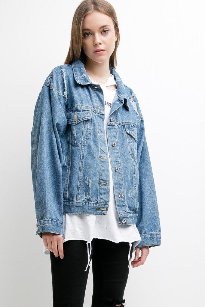 Wide Sleeve Denim Jacket