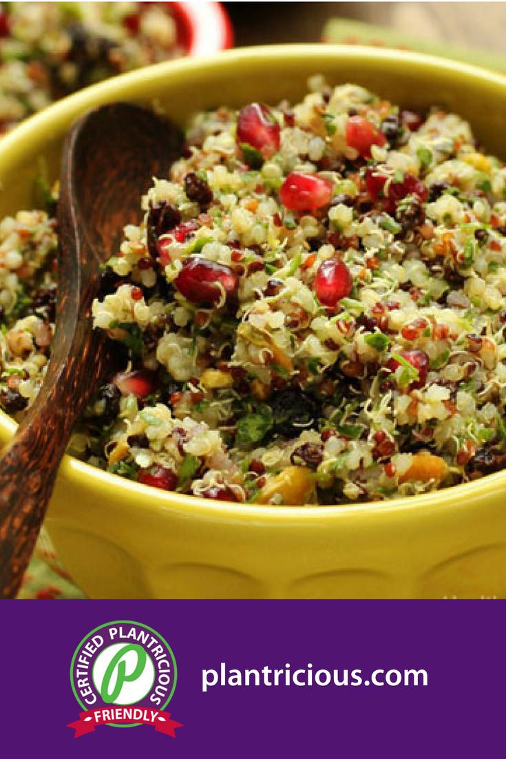 Quinoa Salad with Currants and Pistachios - Straig