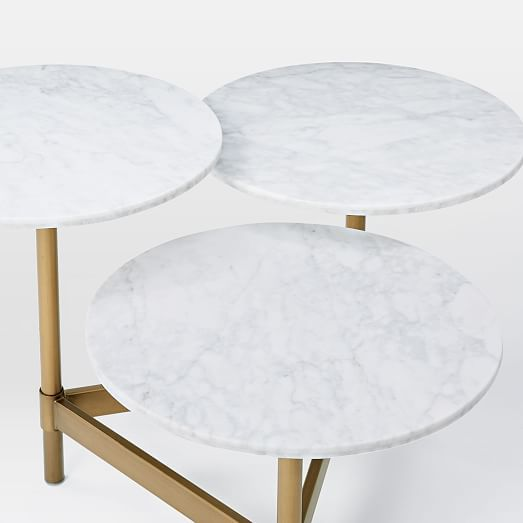 Charming Tiered Circles Coffee Table   Marble | West Elm
