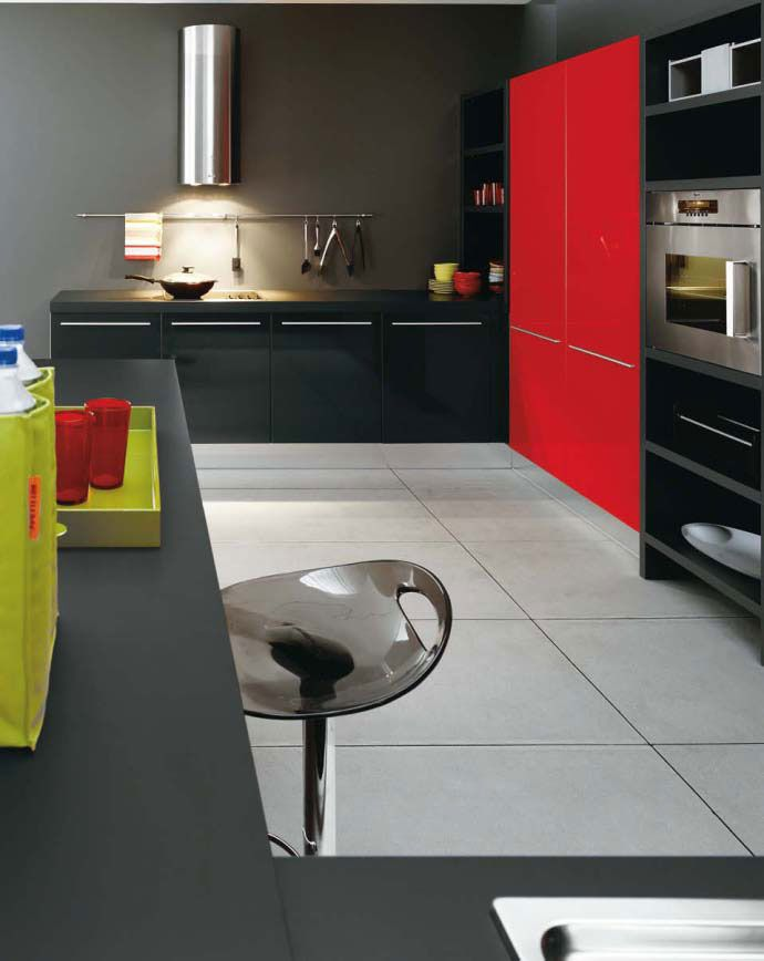 White Black And Red Kitchen Design By Cesar Kitchen Inspiration Design White Kitchen Design Kitchen Design