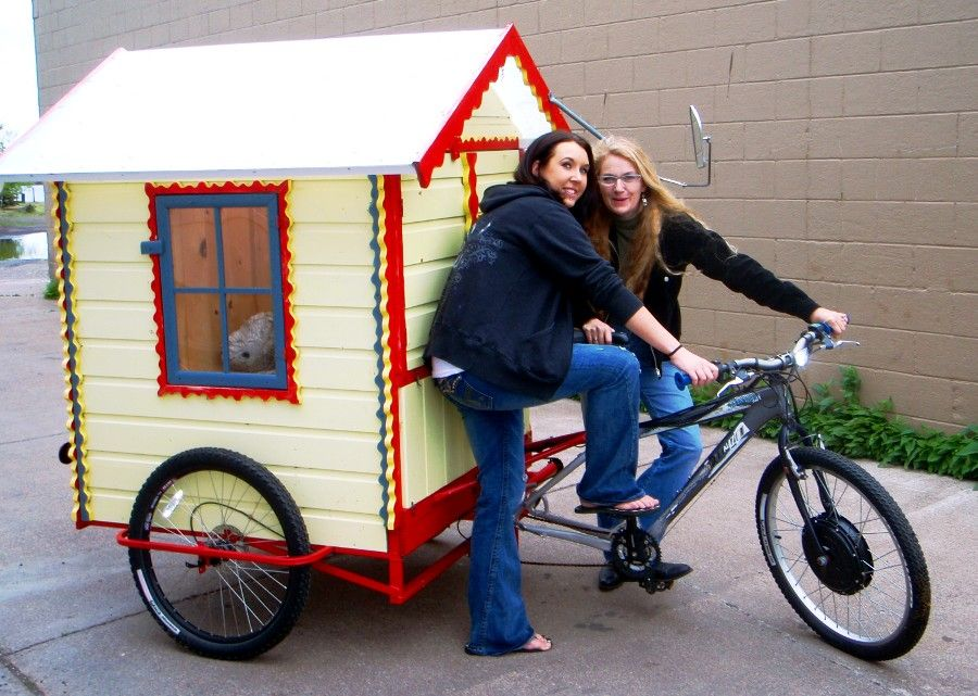 Bicycle House With Mandy And Anna From The Grand Marais Visitor