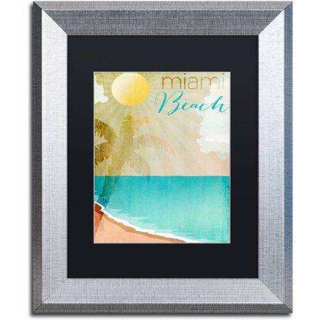 Trademark Fine Art Miami Beach Canvas Art by Color Bakery Black Matte f690bc2e0e