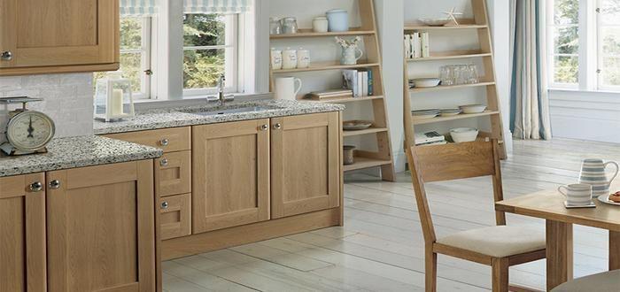 Burford Natural Oak Kitchen. Laura Ashley. #Kitchens