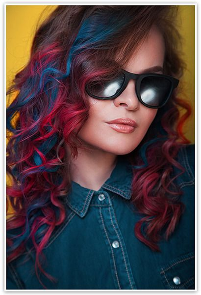 Pink And Red Streaked Curly Hair Lovely Locks Too In 2019