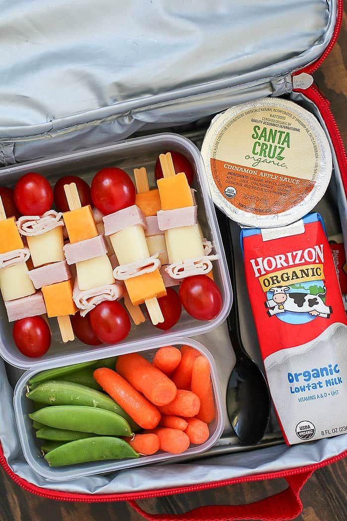 Cheese & Turkey Kebabs - a fun lunchbox idea!