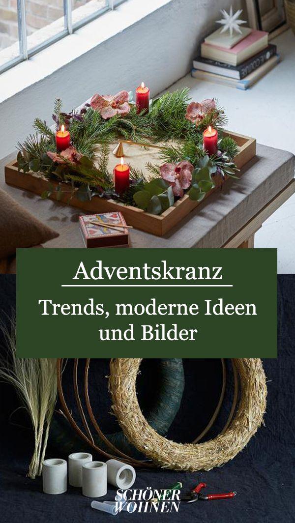 Adventskranz: Ideen, moderne Trends und Bilder