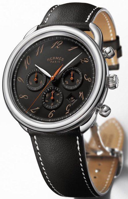 2fd529d05175c Hermes Arceau Ebony Chronograph Watch