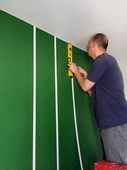 DIY Football Field Wall | Football room decor, Football ...