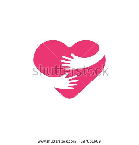 Hugging Heart Symbol Hug Yourself Love Yourself Heart And Hands