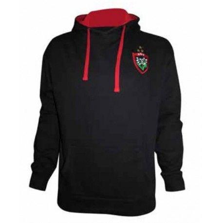 Image Sweat à capuche noir de En Mode Rugby