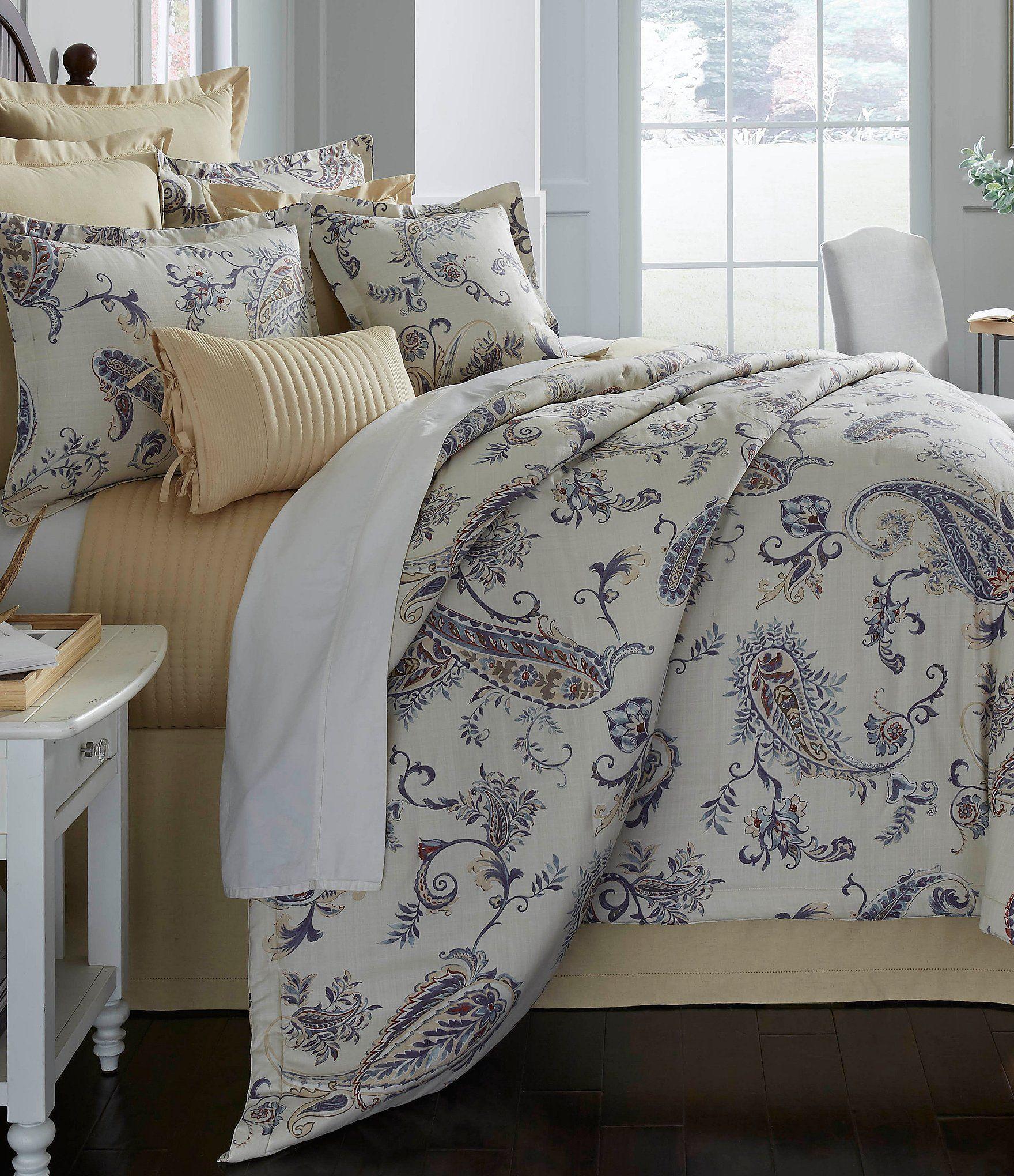 Villa By Noble Excellence Capella Paisley Comforter Mini Set #Dillards