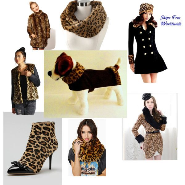 Leopard Faux Fur for a Girl & her Dog, on Polyvore by http://HaveHeartDaily.com