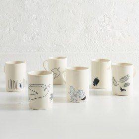 Illustrated Porcelain Mug