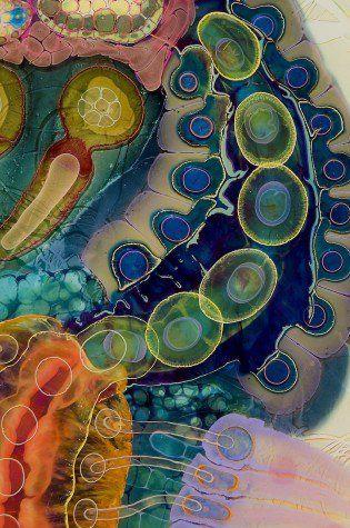Artista crea arte psicodélico vertiendo pintura y resina en un lienzo (FOTOS) « Pijamasurf - Noticias e Información alternativa