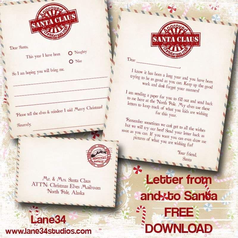 Christmas Freebies Letters From Santa Printables printables