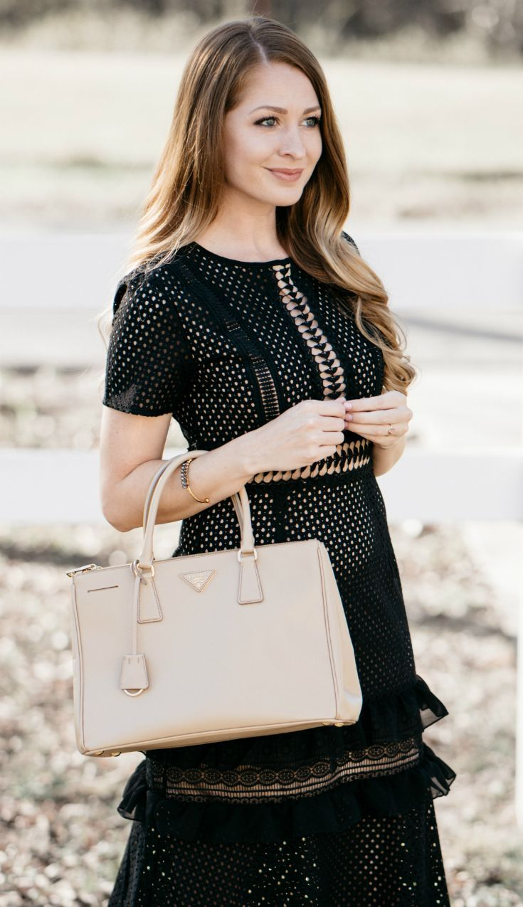 Black Midi Dress / Holiday Party Dress / LBD / Fashion / Style / Outfit Ideas