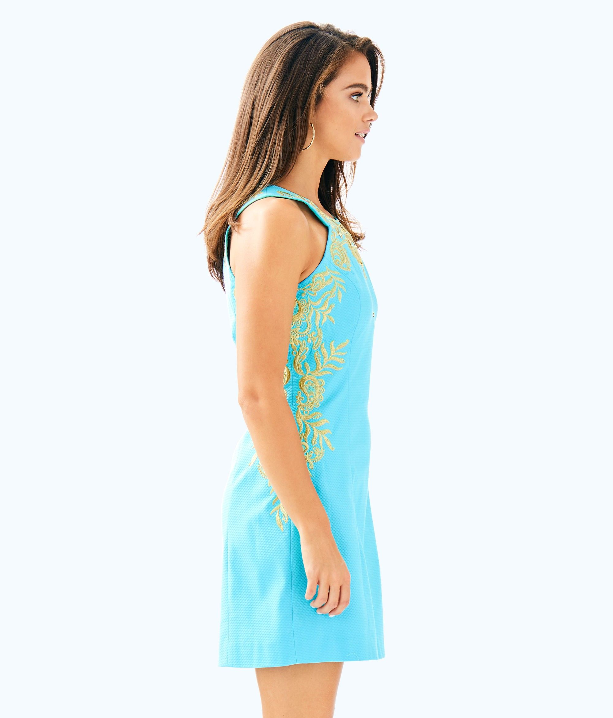 fa87117468c9 Lilly Pulitzer Tina Stretch Shift Dress - 0 Gold