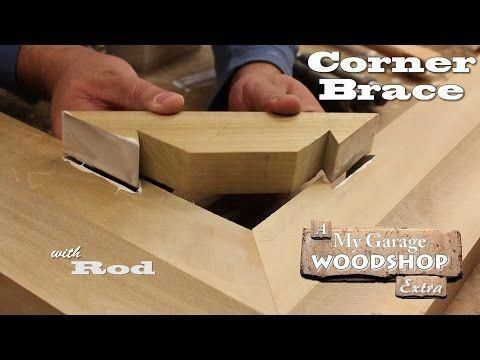 Making a Corner Brace - YouTube More #ChristmasWoodProjects