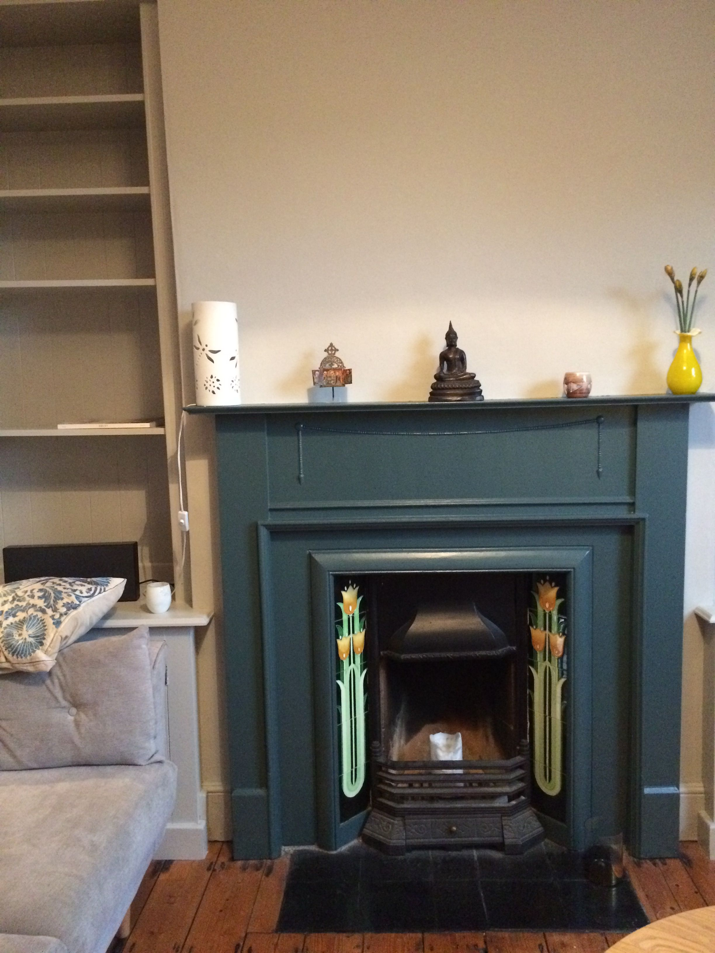 Inchyra Blue Fireplace Farrowandball Living Room Interior Apartment Decor Interior Design
