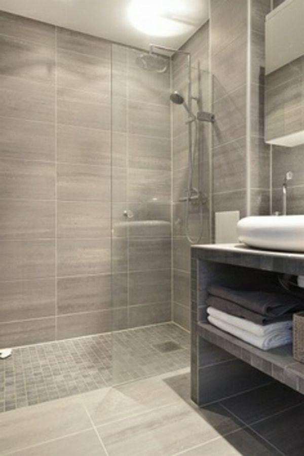 badausstattung mit gläserner duschkabinenwand - 77 Badezimmer-Ideen ...