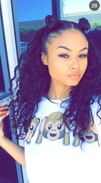 mixed girl curly hair tumblr - Google Search | H A I R | Pinterest ...