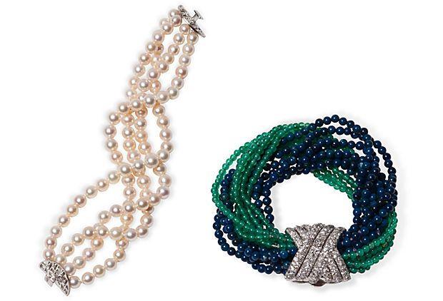 Bead & Pearl Bracelets, Set of 2 on OneKingsLane.com