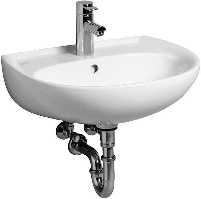 Waschbecken Renova Nr 1 55 Cm Halbrund Waschbecken Keramag