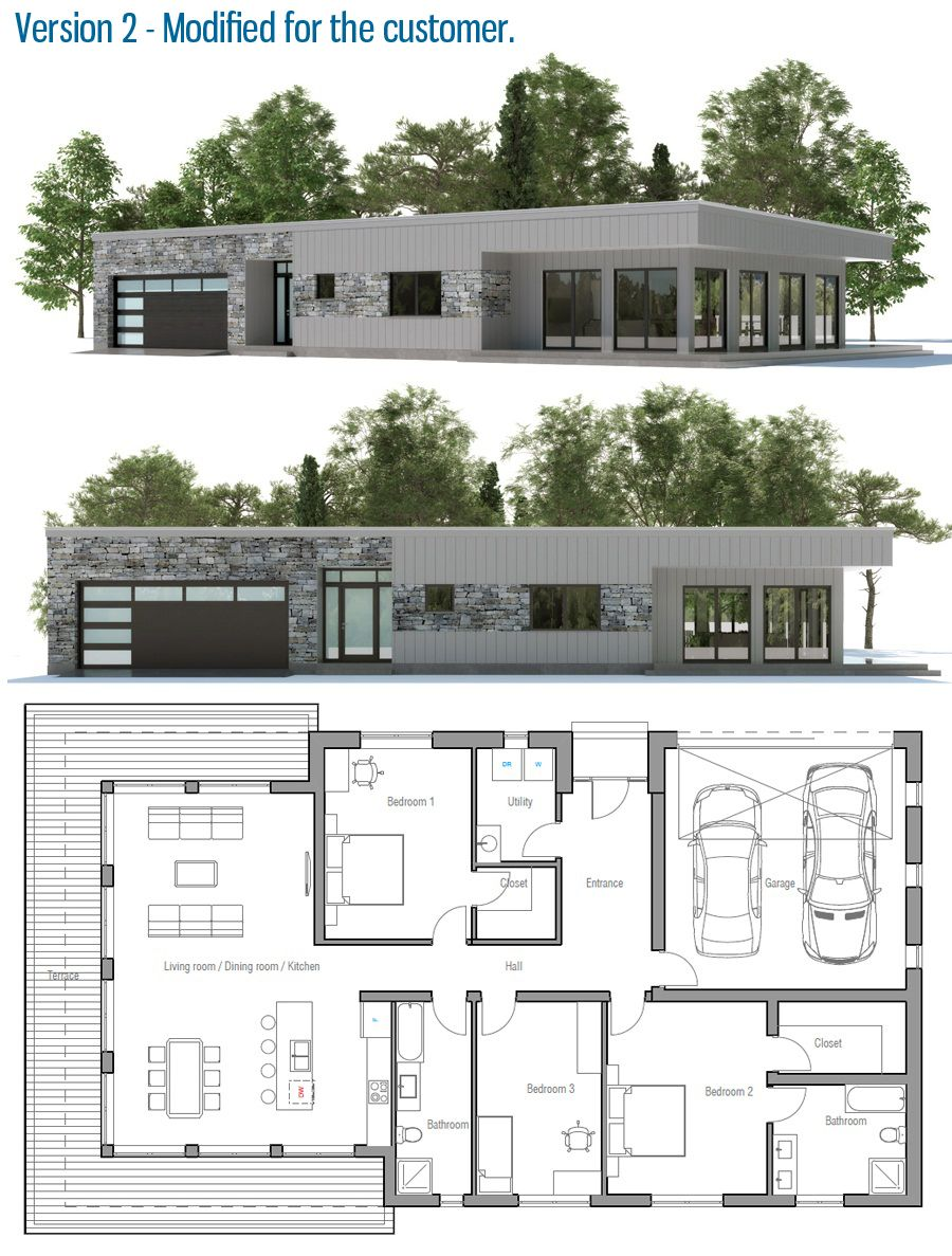 House Design Contemporary Home Ch183 31 Modern House Plans Contemporary House Design House Plans