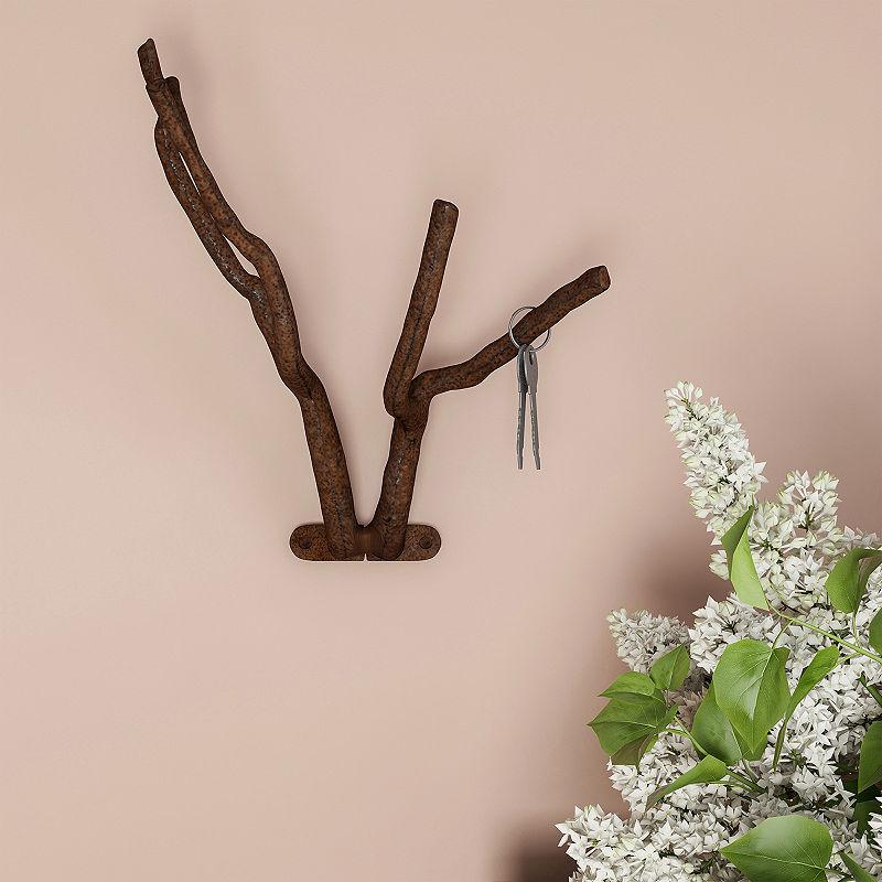 Iron Branch Wall Hook Decorative Wall Hooks Lavish Home Wall Mounted Hooks