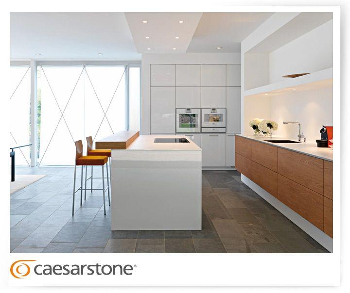 Caesarstone Kitchen Blizzard, White, Interior Design