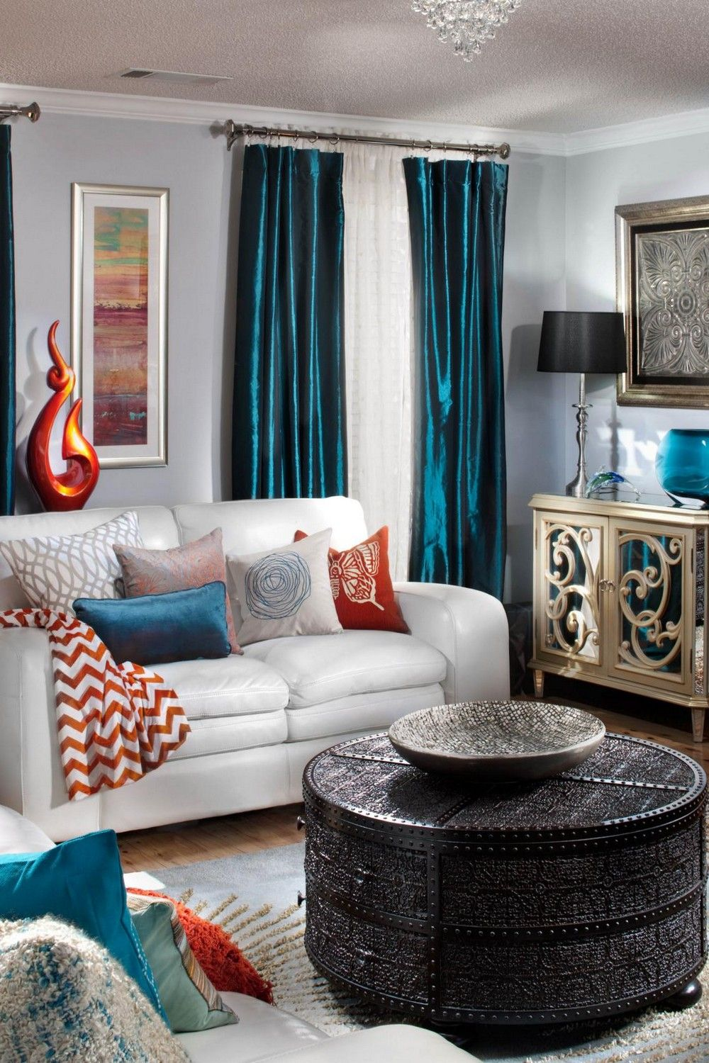 Room Ideas In 2020 Teal And Orange Living Room Decor Living Room Grey Living Room Orange #teal #and #rust #living #room