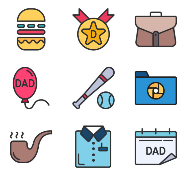 24 Premium Vector Icons Of Fathers Day Designed By Zulfa Mahendra Fathers Day Vector Icons Icon Pack