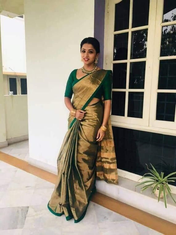 Indian Bollywood Uppada Tissue Cotton Saree Tradit