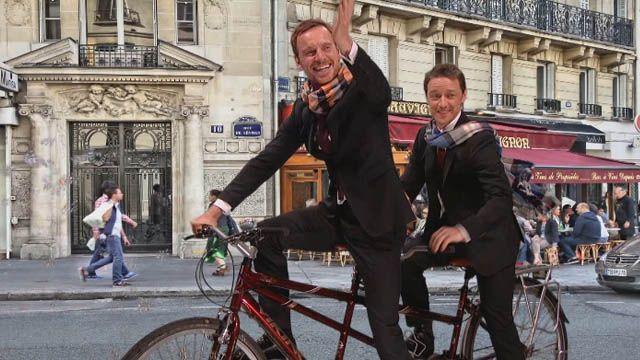 畫面美到人家不敢看!萬磁王和X教授浪漫騎腳踏車暢遊巴黎
