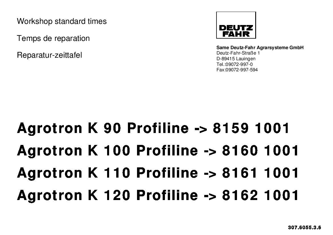 DEUTZ-FAHR Agrotron K 90 K 100 K 110 K 120 Profiline