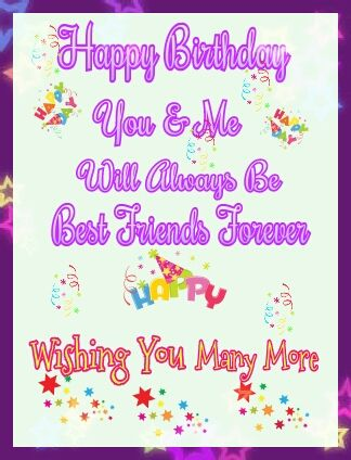 SAMPLE BEST FRIENDS BIRTHDAY CARD For more info please contact me - birthday card sample