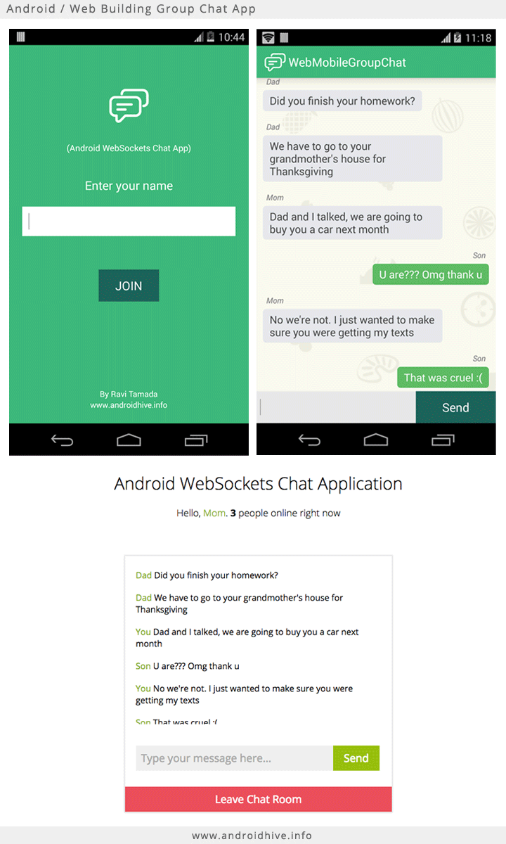 Android Building Group Chat App using Sockets Part 1
