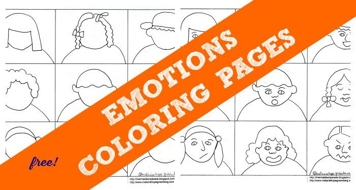 Emotions Coloring Pages Help Kids With Feelings Emotions