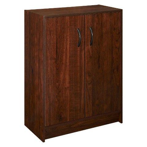 Closetmaid 2 Door Stackable Cabinet Dark Cherry