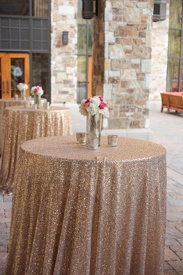 Glittery Gold And Pink Resort Wedding Elizabeth Anne Designs