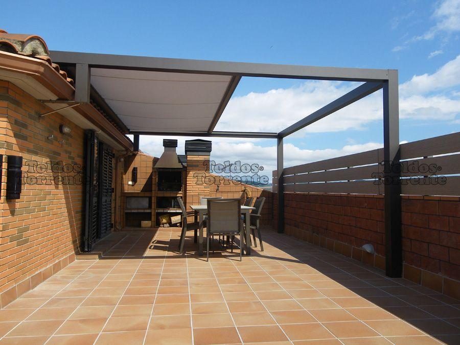 P rgolas de aluminio pergalum 07 prv pinterest for Ver toldos para patios
