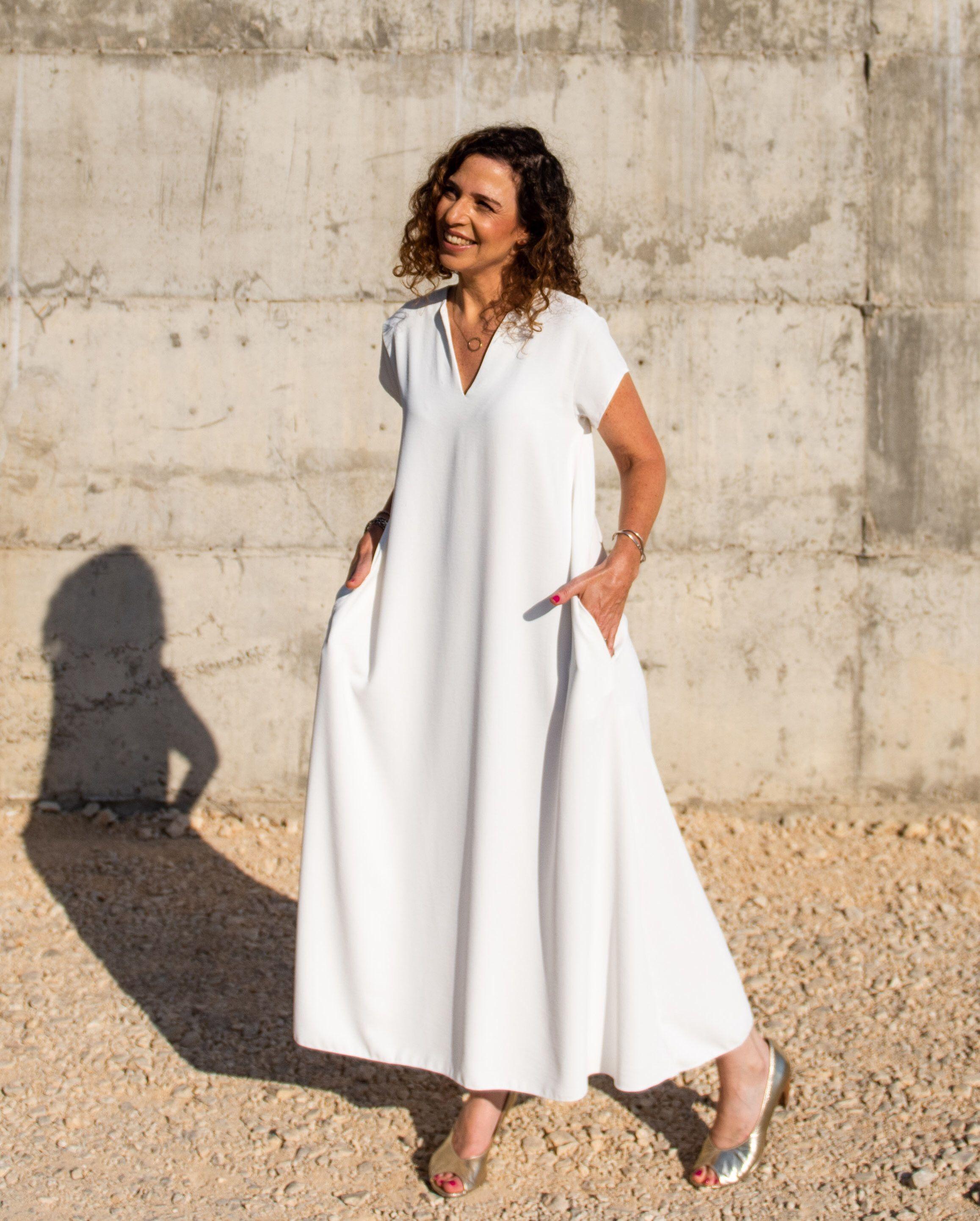 White Dress Kaftan Dress White Caftan White Sari Trapeze Dress Maxi Dress With Sleeves V Nec White Plus Size Dresses Maxi Dress With Sleeves Kaftan Dress [ 2885 x 2315 Pixel ]