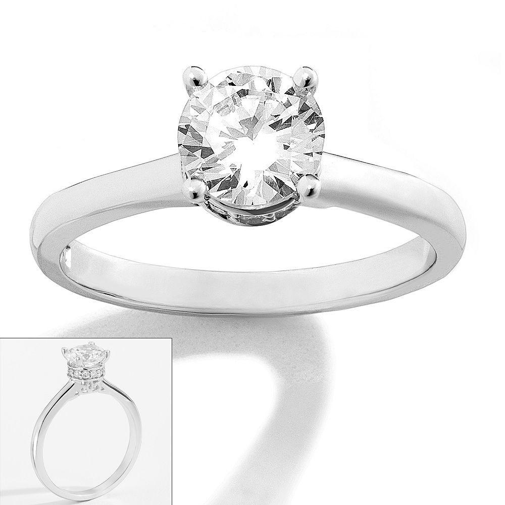 kohls wedding bands Simply Vera Vera Wang 14k White Gold 1 ct T W Diamond Solitaire Ring