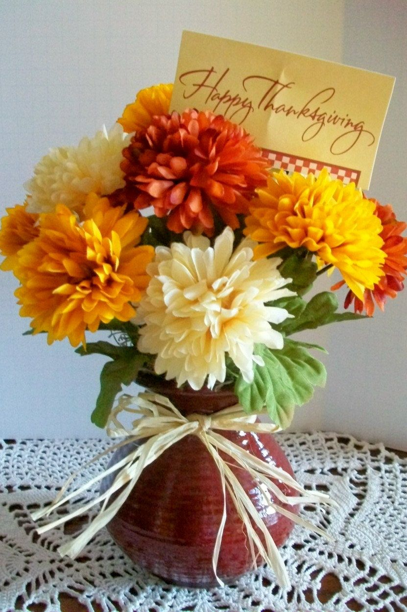 Happy Thanksgiving Bouquet by SilkTreasuresandmore on Etsy