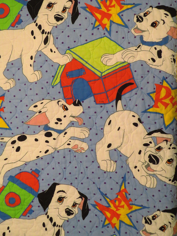 Vintage 101 Dalmatians Toddler Comforter With Images Toddler
