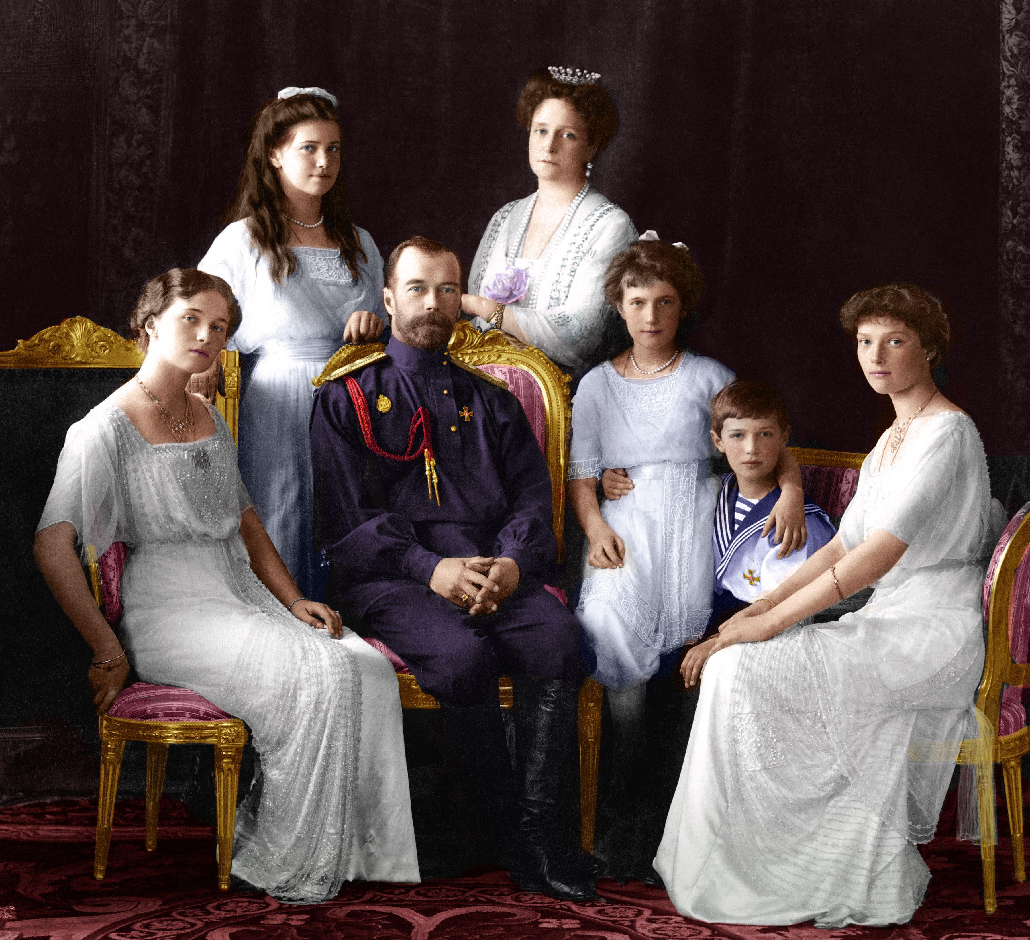 Царская семья фотографии в цвете в хорошем качестве